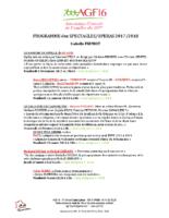 Programme Spectacles Opéras