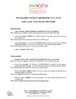Programme 4 premières visites des 2 groupes