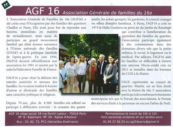 """Article parut dans """"16 La lettre des quartiers"""" Novembre 2015"""